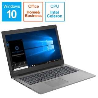 ideapad 330 ノートパソコン オニキスブラック 81DE02SUJP [15.6型 /intel Celeron /SSD:128GB /メモリ:4GB /2019年6月モデル]