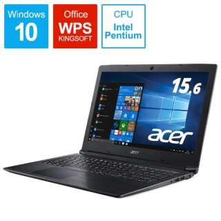 Aspire 3 ノートパソコン オブシディアンブラック A315-53-N24U/K [15.6型 /intel Pentium /SSD:256GB /メモリ:4GB /2019年5月モデル]