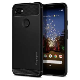 Pixel 3a Case Rugged Armor Matte Black