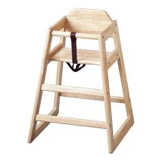 木製子供用ハイチェアー(スタッキング式) ナチュラル <UBB0601>