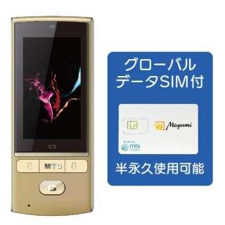 翻訳機 Mayumi 3 グローバルデータSIM付き MU-001-03G シャンパンゴールド