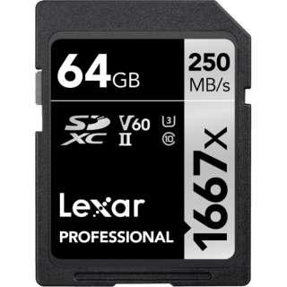 SDXCカード Lexar Professional 1667x SDXC UHS-IIカード LSD64GCBJP1667 [64GB /Class10]