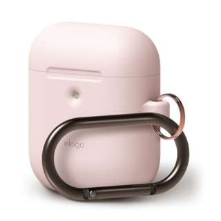 elago AIRPODS HANG CASE for AirPods 2nd Generation Wireless Charging Case for AirPods 2nd Wireless (Lovely Pink) EL_A2WCSSCHW_LP