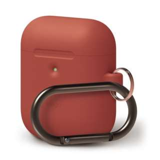 elago AIRPODS HANG CASE for AirPods 2nd Generation Wireless Charging Case for AirPods 2nd Wireless (Red) EL_A2WCSSCHW_RD