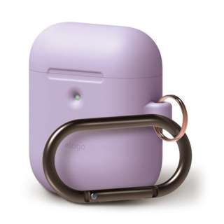 elago AIRPODS HANG CASE for AirPods 2nd Generation Wireless Charging Case for AirPods 2nd Wireless (Lavender) EL_A2WCSSCHW_LV