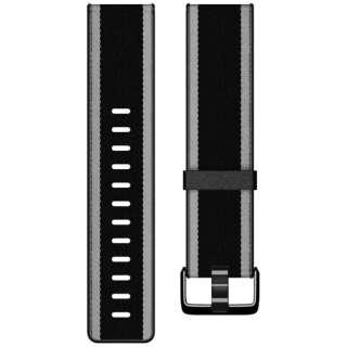 Fitbit  Versa/VersaLite 専用 ウーブンハイブリッドバンド Black/Gray ブラック/グレー Sサイズ FB166WBBKGYS ブラック/グレー