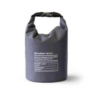 bclオリジナル 585ウォータープルーフバッグ 5L(チャコールグレー×ブラック/17×17×28cm) 127993 [約5L]