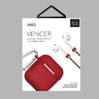 VENCER Protective AirPods シリコンケース RD