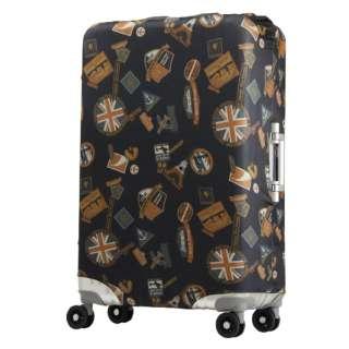 スーツケースカバー 9101-L-NV-B ブラックステッカー