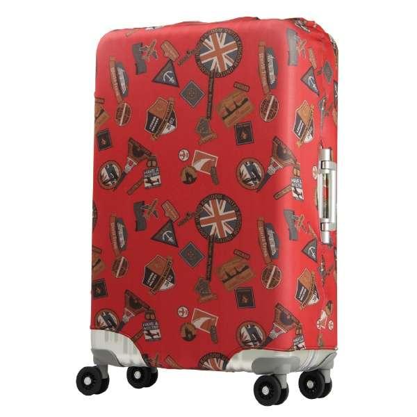 スーツケースカバー 9101-L-LONDON レッドステッカー