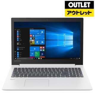 【アウトレット品】 15.6型ノートPC[Win10 Home・Core i3・HDD 1TB・メモリ 4GB・Office] ideapad 330  81DE00J4JP ブリザードホワイト 【外装不良品】
