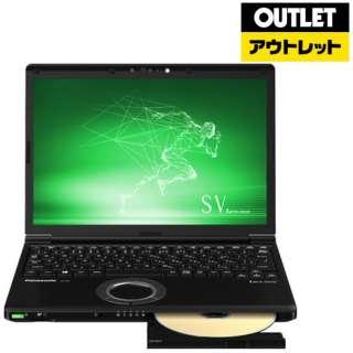 【アウトレット品】 12.1型ノートPC [Win10 Pro・Core i7・SSD 256GB・メモリ 8GB・Office] Let's note(レッツノート) SVシリーズ CF-SV8DDUQR ブラック 【外装不良品】