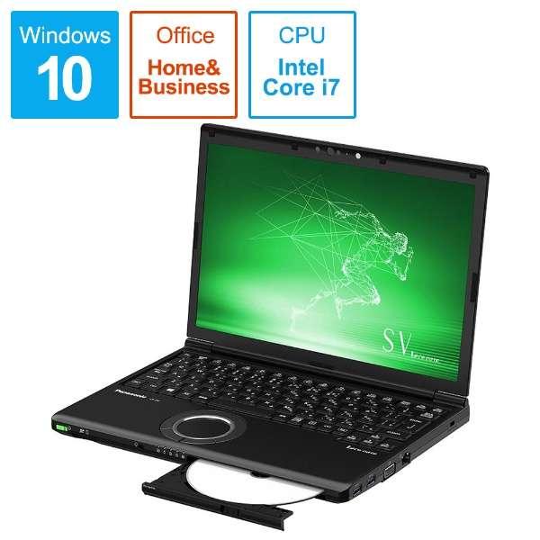 Let's note(レッツノート)SV8シリーズ【LTE対応モデル】 ノートパソコン ブラック CF-SV8LFNQR [12.1型 /intel Core i7 /SSD:512GB /メモリ:8GB /2019年夏モデル]
