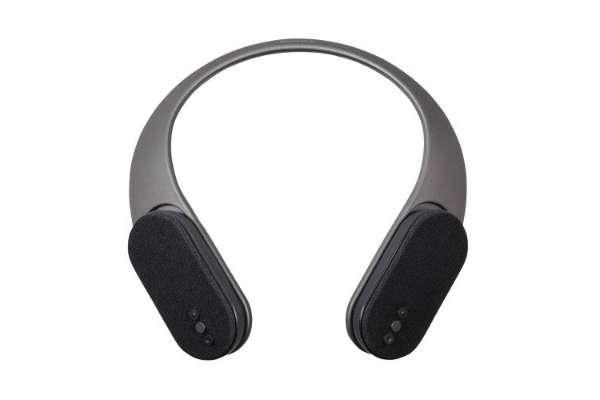 ウェアラブルネックスピーカーのおすすめ オウルテック「2WAY Bluetoothネックスピーカー」OWL-BTSP08-BK