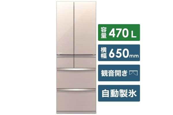 """三菱""""能放的干练的大容量WX系列""""6门冰箱MR-WX47E(470L)"""