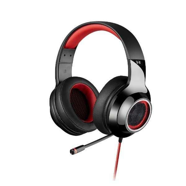 ED-V4RD ゲーミングヘッドセット レッド [USB /両耳 /ヘッドバンドタイプ]