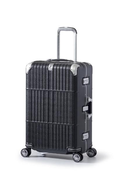 スーツケース ハードキャリー 63L departure レザーマットブラック HD-509S-27 [TSAロック搭載]