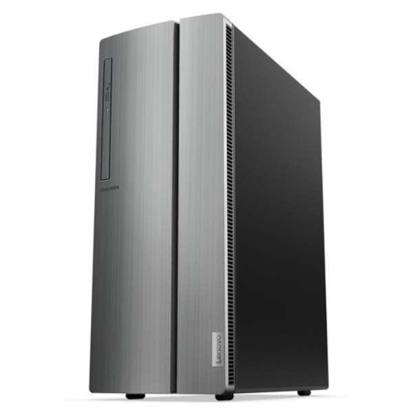 90HU00EQJP ゲーミングデスクトップパソコン ideacentre 510 i5 GTX1650 Office シルバー [モニター無し /HDD:1TB /Optane:16GB /メモリ:8GB /2019年6月モデル]