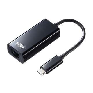 USB3.1 TypeC-LAN変換アダプタ(ブラック) USB-CVLAN2BK