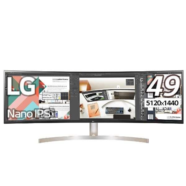 49型デュアルQHD対応ウルトラワイド液晶ディスプレイ(IPS/5120×1440/3800R/HDR10/sRGB99%/LED/ブルーライト低減/フリッカーセーフ/液晶パネル・バックライト3年保証) 49WL95C-W
