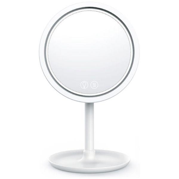 永山 LED Windy MakeUp Beauty Mirror WH ELBLED-FANMIRROR-01 ホワイト