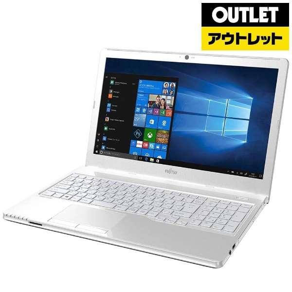 【アウトレット品】 15.6型ノートPC[Win10 Home・AMD E2-9000・HDD 500GB・メモリ 4GB・Office] LIFEBOOK(ライフブック) AHシリーズ FMVA30B3W アーバンホワイト 【生産完了品】