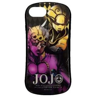 iPhone8/7/6S/6 JOJO黄金の風 ハイブリッドガラスケース ジョルノ