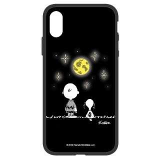 ピーナッツ iFlash iPhoneXs/X対応ケース 夜空