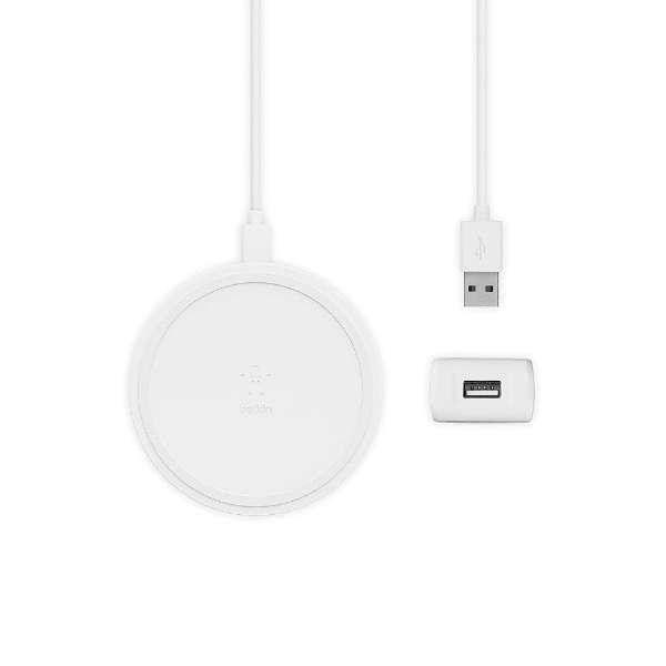 ワイヤレス充電パッド(10W) ホワイト (PSE) F7U082JCWHT