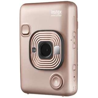 ハイブリッドインスタントカメラ 『チェキ』 instax mini LiPlay ブラッシュゴールド