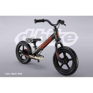 ランニングバイク D-BIKE KIX(ブラック×レッド) 【2歳以上向け】