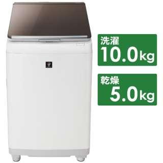 ES-PT10D-T 縦型洗濯乾燥機 ブラウン系 [洗濯10.0kg /乾燥5.0kg /ヒーター乾燥(排気タイプ) /上開き]