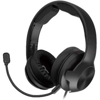ホリ ゲーミングヘッドセット ハイグレード for PlayStation 4 ブラック PS4-146 【PS5/PS4】