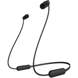 ブルートゥースイヤホン ブラック WI-C200 BC [リモコン・マイク対応 /ネックバンド /Bluetooth]