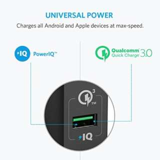 Anker PowerPort+ 1 【Quick Charge 3.0対応 18W USB急速充電器】 black A2013112