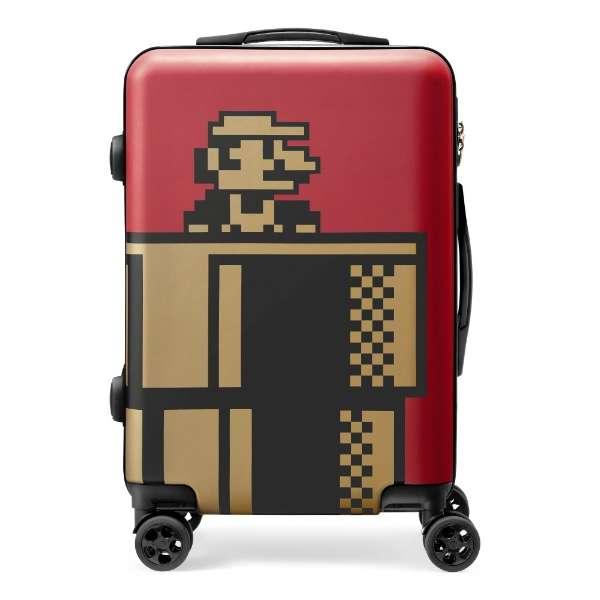 トラベルスーツケース 35L ワインレッド スーパーマリオ NSL-0072 [TSAロック搭載]