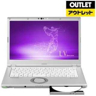 【アウトレット品】 14.0型ノートPC [Win10 Pro・Core i7・SSD 512GB・メモリ 8GB・Office] Let's note(レッツノート) LVシリーズ CF-LV7DDVQR シルバー 【外装不良品】