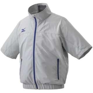 メンズ エアリージャケット半袖 (Lサイズ/ベイパーシルバー) C2JE9102【ファン・バッテリー別売り】