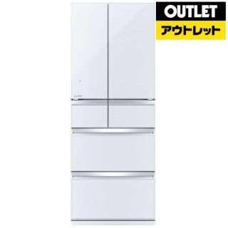【アウトレット品】 MR-WX47LD-W 冷蔵庫 WXシリーズ クリスタルホワイト [6ドア /観音開きタイプ /470L] 【生産完了品】