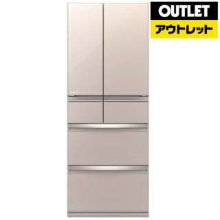 【アウトレット品】 MR-WX47LD-F 冷蔵庫 WXシリーズ クリスタルフローラル [6ドア /観音開きタイプ /470L] 【生産完了品】