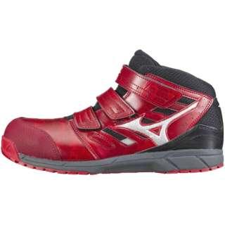 男女兼用 安全靴 MIZUNO WORKING ミズノ・オールマイティ LS(26.0cm/レッド×シルバー×ブラック/靴幅:3E)C1GA180262【JSAA・普通作業用(A種)認定品 耐滑 プロテクティブスニーカー】