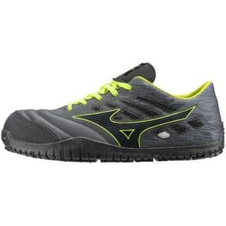 25.5cm 靴幅:3E メンズ 安全靴 MIZUNO WORKING オールマイティ TD11L(ブラックー×ダークグレー×イエロー)F1GA190009【JSAA・普通作業用(A種)認定品 耐滑 プロテクティブスニーカー】