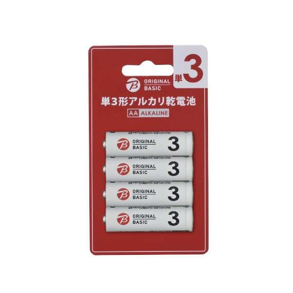 LR6BKOB-4P 単3電池 ブリスターパック [4本 /アルカリ]