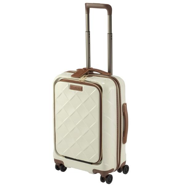 スーツケース 33L レザー&モア ミルク 3-9976-55-MK [TSAロック搭載]