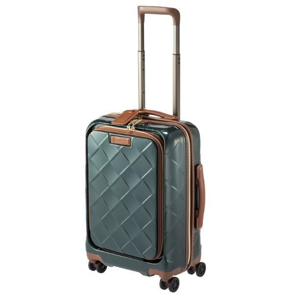 スーツケース 33L レザー&モア ダークグリーン 3-9976-55-DGR [TSAロック搭載]