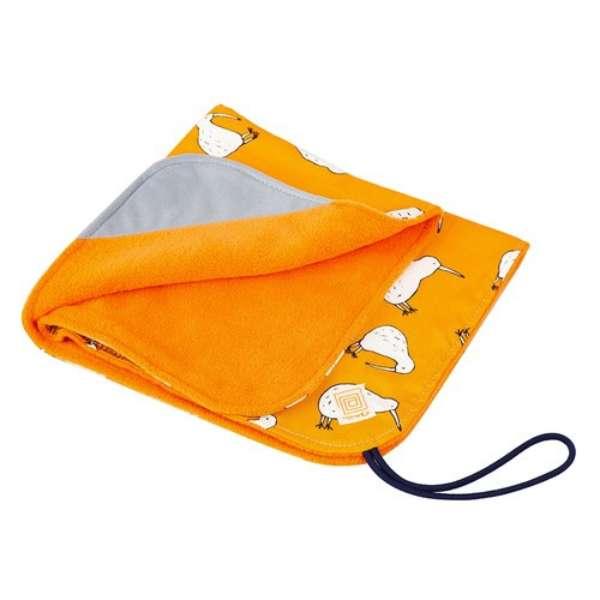 も~っと 包 ラップクッション Mサイズ キウイバード柄 オレンジ TTM890578M-KBOR