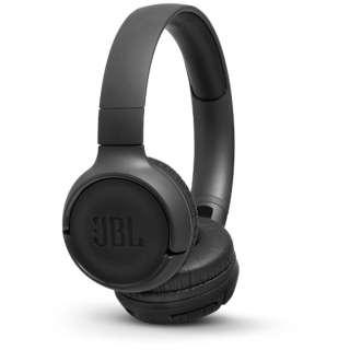 ブルートゥースヘッドホン ブラック JBLT500BTBLK [マイク対応 /Bluetooth]
