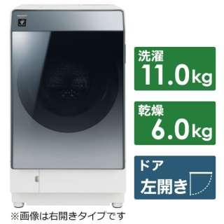 ES-W112-SL ドラム式洗濯乾燥機 シルバー系 [洗濯11.0kg /乾燥6.0kg /ヒートポンプ乾燥 /左開き]