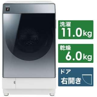 ES-W112-SR ドラム式洗濯乾燥機 シルバー系 [洗濯11.0kg /乾燥6.0kg /ヒートポンプ乾燥 /右開き]