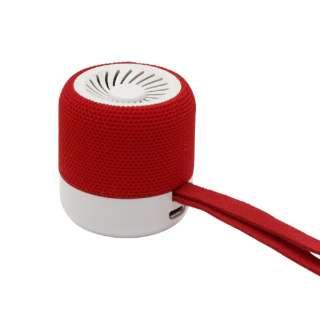 KWQ1-SRD ブルートゥーススピーカー KIWI ストロベリーレッド [Bluetooth対応]